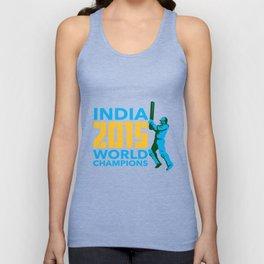 India Cricket 2015 World Champions Isolated Unisex Tank Top