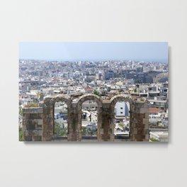 Athenian Hills Metal Print