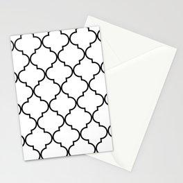 Quatrefoil - black on white Stationery Cards
