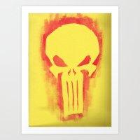 punisher Art Prints featuring Punisher by irvpaj