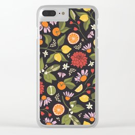 Citrus Grove Clear iPhone Case