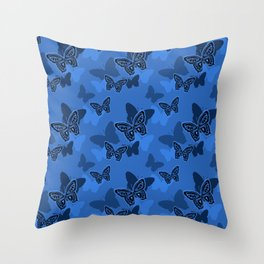 Iron Butterfly Camouflage Throw Pillow