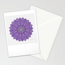 12-Fold Mandala Flower in Purple Stationery Cards
