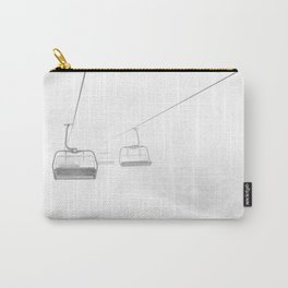 Ski Lift Fog B&W Carry-All Pouch