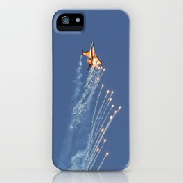 Dutch F-16 Flares  iPhone Case