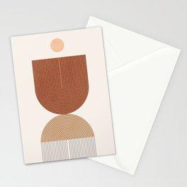 Abstraction_SHAPE_BALANCE_LINE_BOHEMIAN_POP_ART_099P Stationery Cards
