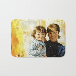 mother and child 1 Bath Mat