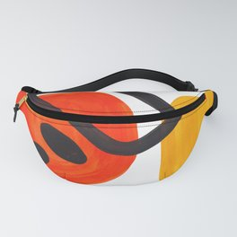 Midcentury Modern Colorful Abstract Pop Art Space Age Fun Bright Orange Yellow Colors Minimalist Fanny Pack