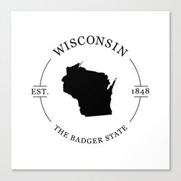 Wisconsin - The Badger State Canvas Print