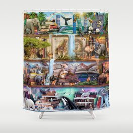 The Amazing Animal Kingdom Shower Curtain