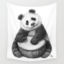 Panda playing percussion G140 Wall Tapestry