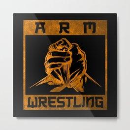 Armwrestling Hands Arm Wrestling Metal Print