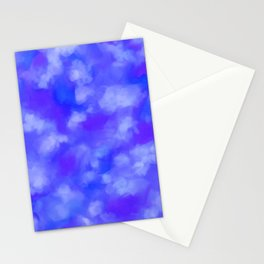 Abstract Clouds - Rich Royal Blue Stationery Cards