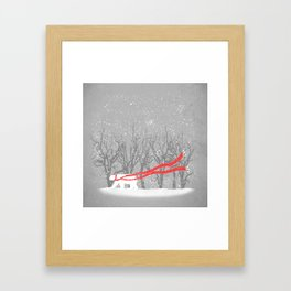 The Red Scarf Framed Art Print