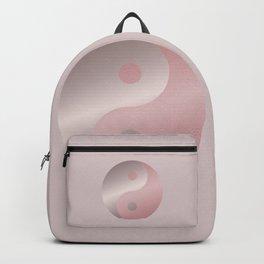 Pink Minimalistic Yin And Yang Symbol Backpack