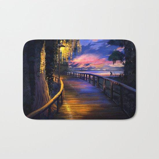 Seaside Sunset Bath Mat