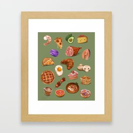Delicious Noms Framed Art Print