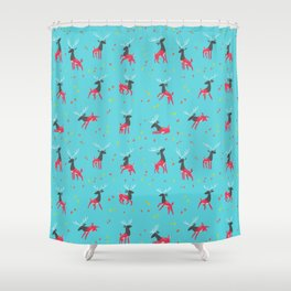 Into the Trees Shower Curtain
