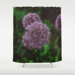 New York Alliums Shower Curtain