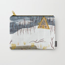 A-Frame Home in the Woods Carry-All Pouch