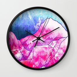 The blue planet rises Wall Clock