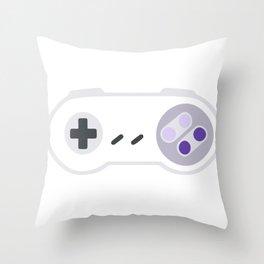 Super Controller Video Game Retro Gaming Throw Pillow