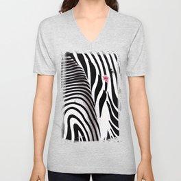 Heart of Zebra Unisex V-Neck