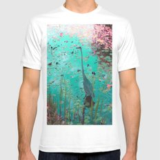 Heron Pond SMALL White Mens Fitted Tee