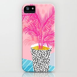 No Can Do - hipster abstract neon 1980s style memphis print palm springs socal los angeles desert iPhone Case