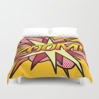 comic book Duvet Covers featuring Comic Book ZOOM! by The Image Zone