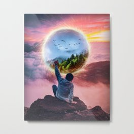 Portal Effect by GEN Z Metal Print