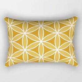 Flower of Life Large Ptn Oranges & White Rectangular Pillow