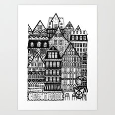 Midnight in Frankfurt Art Print