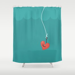 Fishing=Love Shower Curtain