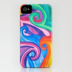 Colorful Swirls iPhone (4, 4s) Slim Case