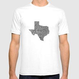 Typographic Texas T-shirt