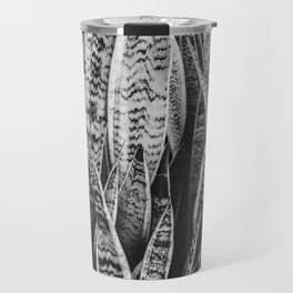 Plant Photography Tropical Exotic Plants Snake Plant Tongue Beauty Wild Nature Black and White Travel Mug
