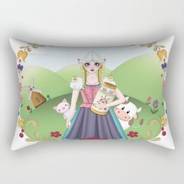 The story of the milkmaid Rectangular Pillow
