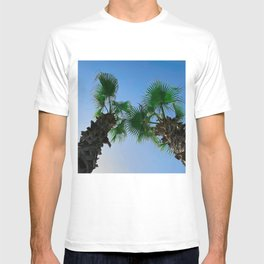 Low angle view on two palm trees T-shirt