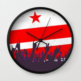 Washington DC Flag with Audience Wall Clock