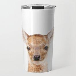 Baby Deer Animals Art by ZouzounioArt Travel Mug