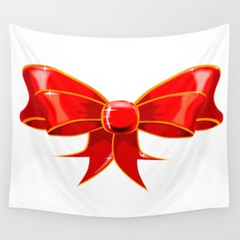Isolated Red Ribbon Wall Tapestry
