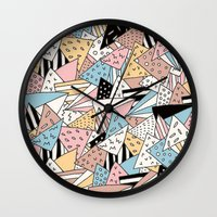 pizza Wall Clocks featuring PIZZA !! by Ana Depuntillas