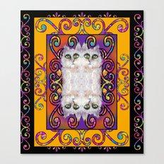 CAT ARABESQUE GYPSY SUNNY YELLOW Canvas Print