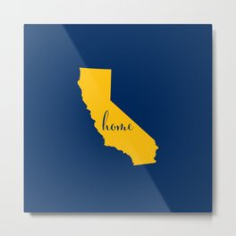 California is Home - Go Chargers Metal Print