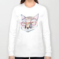 mr fox Long Sleeve T-shirts featuring Mr Fox by Ashley Percival illustration