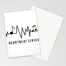 Heartbeat Music Lover Gift Stationery Cards