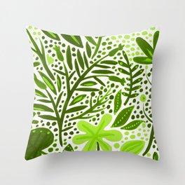 Garden – Lime Green Palette Throw Pillow