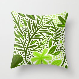 Garden – Lime Green Palette Throw Pillow