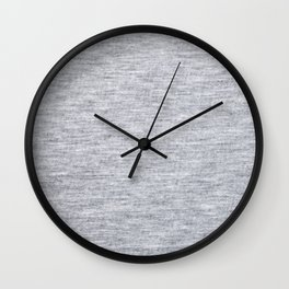 Grey Knitted Fabric Wall Clock